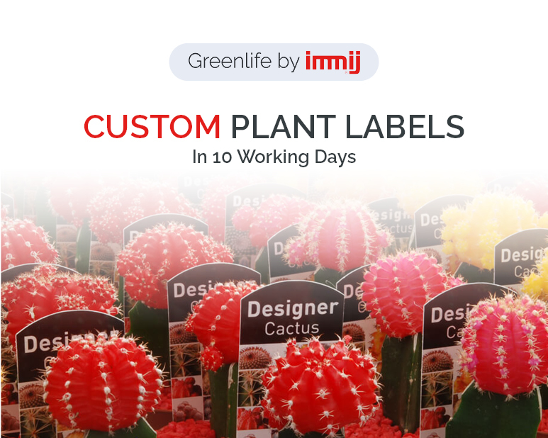 cutom plant labels in 10 working days