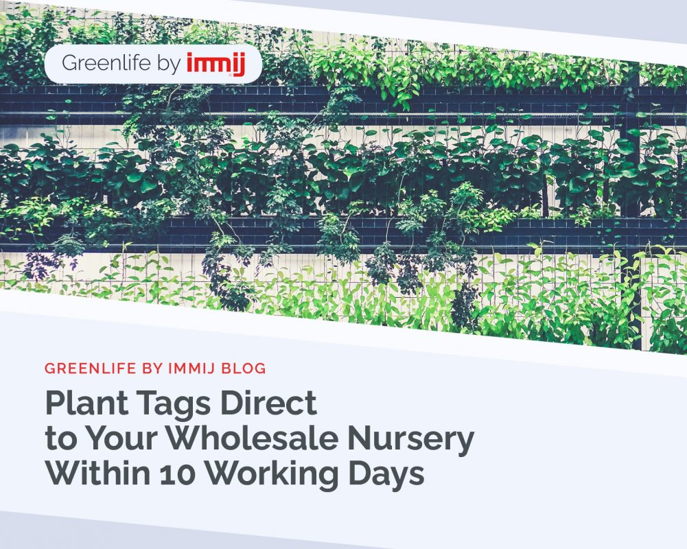 Plant Tags Direct to Your Wholesale Nursery within 10 Working Days