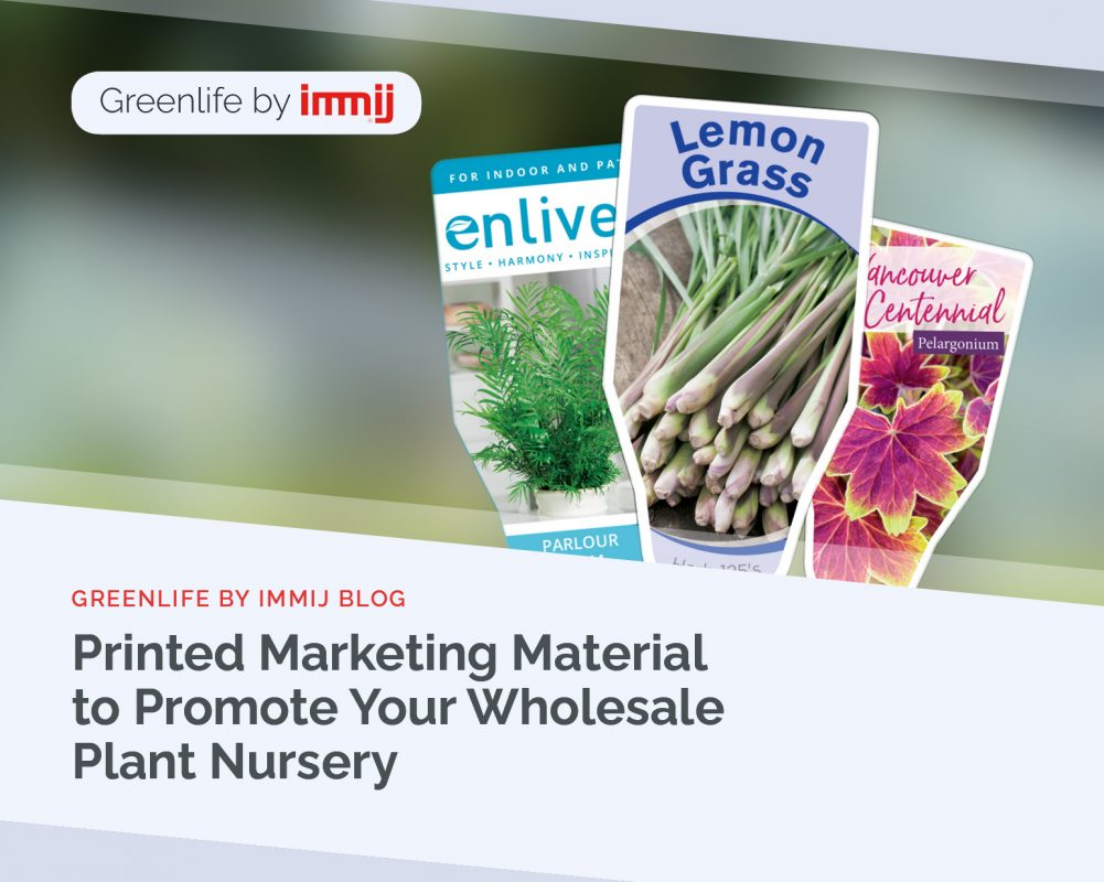 Printed Marketing Material to Promote Your Wholesale Plant Nursery