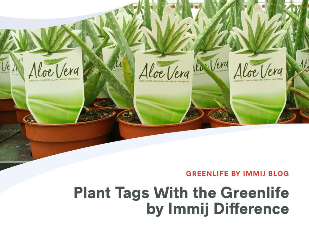 Plant Tags with the Greenlife by Immij Difference